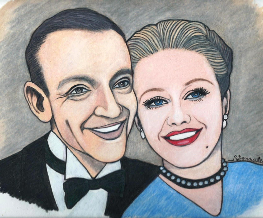 Ginger Rogers, Fred Astaire by aaronmark